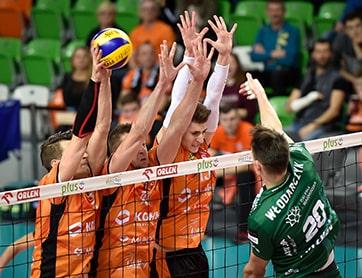 Driemans blok heren Nederlands volleybal team
