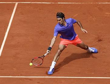 Tennis forehand Roger Federer