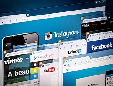 Social Media Instagram LinkedIn Twitter